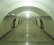 Almaty and Abay Metro Stations in Almaty, Kazakhstan